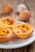 Portekizli yumurta tart — Stok fotoğraf
