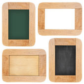 Old chalk board with wood frame — Stock Photo