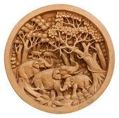Carved Thai elephant — Stock Photo