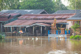 House flood in Thailand — Stock Photo