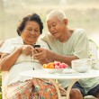 Senior couple using the mobile phone — Stock Photo #46227927