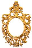 Gold ornate oval frame — Stock Photo