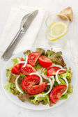 Vegetable salad on the white plate — Stock Photo