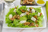 Salad with cheese gorgonzola — Stock Photo