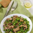 Zdjęcie stockowe: Green peas with mushrooms
