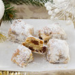 Stock Photo: Christmas cake with powdered sugar