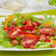 Stock Photo: Beans salad with olive oil and herbs