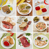 Collage of snack — Stock Photo