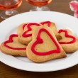Cookies on the white plate — Stock Photo