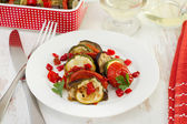 Baked vegetables on the plate — Stock Photo