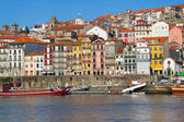 View on city Porto and river Douro — Stock Photo