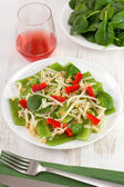Salad with green beans and bean sprouts — Stock Photo