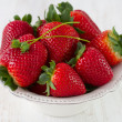 Strawberry in dish - Stock Photo
