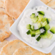 Stock Photo: Tzatziki with toasts