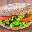 Sandwich with lettuce and tomato — Stock Photo
