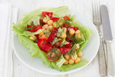 Vegetable salad on the plate — Stock Photo