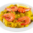 Постер, плакат: Rice with seafood and lemon
