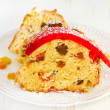Christmas cake on plate — Stock Photo