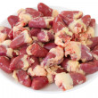 Foto de Stock  : Chicken hearts on plate