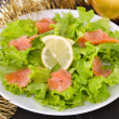 Salad with salted fish — Stock Photo #34889861