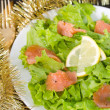 Salad with salted fish — Stock Photo #34889927