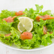 Salad with salted fish — Stock Photo #34889929