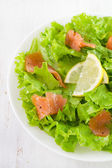 Salad with salted fish — Stock Photo
