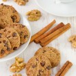 Cookies with cup of coffee — Stock Photo