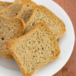 Stock Photo: Toasts on white plate