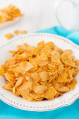 Cornflake in white dish — Stock Photo