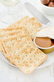 Toasts with fish pate — Stockfoto