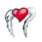 Flying heart — Stock Vector