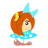 Little girl — Stock Vector