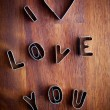 Foto Stock: Love cookie cutter