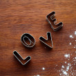 Love cookie cutter — Stockfoto #12110766