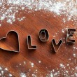 Stockfoto: Love cookie cutter