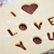Love cookie cutter — ストック写真