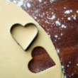 Baking heart cookies — Stock Photo #12110779