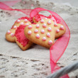 Pink heart shape cookies for Valentines Day celebration — Stock Photo #12110801