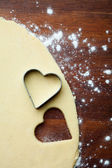 Baking heart cookies — Stock Photo