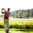Foto Stock: Man playing golf