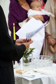 Christening of a baby — Stock Photo