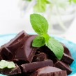 Chocolate with mint — Stock Photo #12857739
