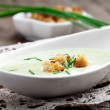 Zucchini soup - Stock Photo