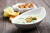 Zucchini soup — Stock Photo
