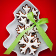 Snowflake gingerbread cookies — Stock Photo #13468205
