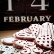 Valentine's Day cookies — Stock Photo #19050833