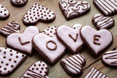 Valentine's Day cookies — Foto Stock