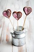 Pops galletas de san valentín — Foto de Stock