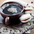 Coffee with macaroons — Stock Photo #25743083